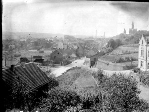 Blick von Sümbergstr. 9 zur Kreuzung Alleestraße